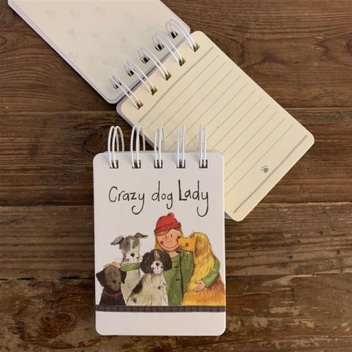 Crazy Dog Lady Small Spiral Bound Notepad