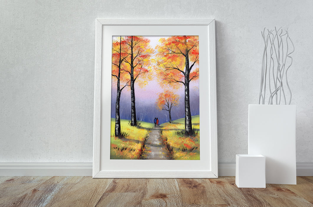 Our Autumn Walk - A3 Print