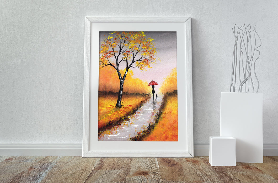 Autumn Walk - A3 Print