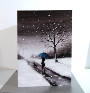 Walk In The Winter Snow Greeting Card