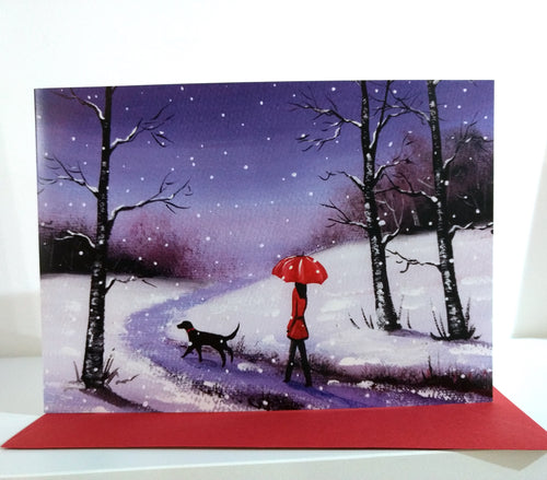 Winter Snow Christmas Greeting Card