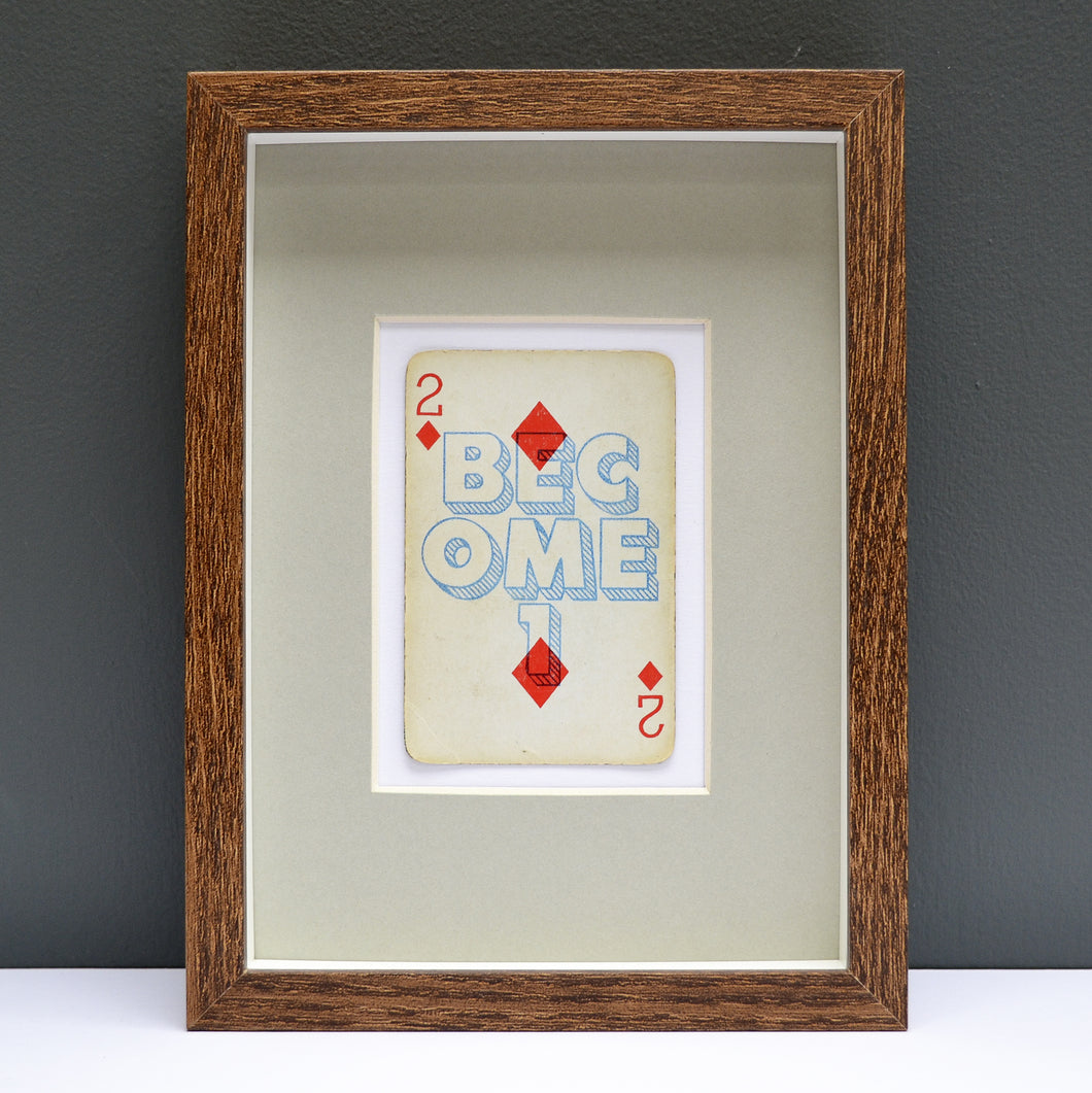 2 Become 1 playing card print