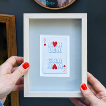 Load image into Gallery viewer, Two hearts together playing card print