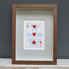 Load image into Gallery viewer, Three's family playing card print