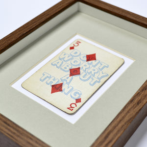 Three little birds playing card print