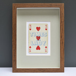 Three times a lady playing card print
