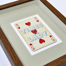 Load image into Gallery viewer, Three times a lady playing card print