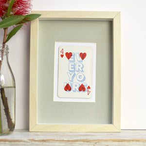 Forever yours playing card print