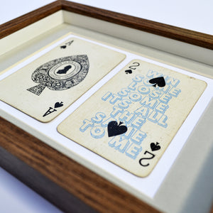 Ace of spades playing card print