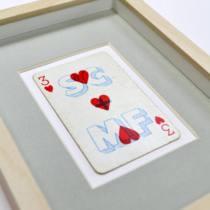 Our anniversary playing card print