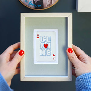 Be mine playing card print
