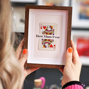 Mum is Queen playing card print