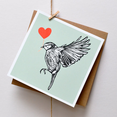 Blue Tit feathered friends card