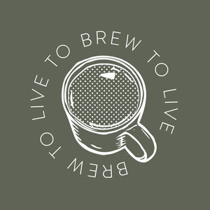 Brew to live, live to brew t-shirt