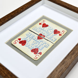 Too many broken hearts playing card print