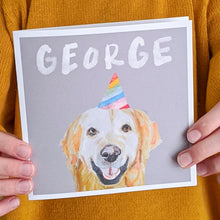 Load image into Gallery viewer, Personalised Party Pup birthday card