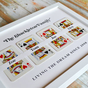Family cards personalised playing card print