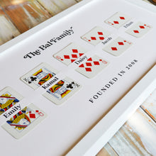 Load image into Gallery viewer, Family cards personalised playing card print