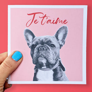 Puppy love French Bulldog Valentine's card