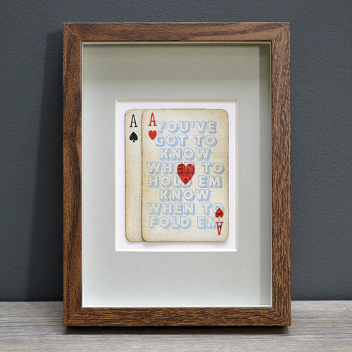 The gambler playing card print
