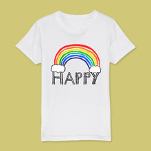 Load image into Gallery viewer, Happy rainbow kids t-shirt