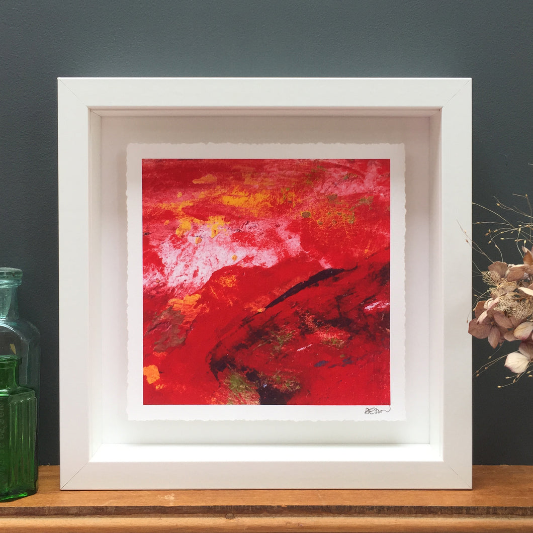 'Red sky' abstract fine art print