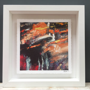 'Glowing orange' abstract fine art print