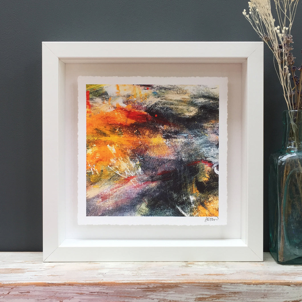 'Glowing embers' abstract fine art print
