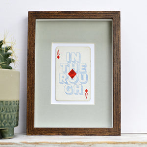 Diamond in the rough playing card print