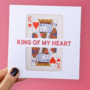 King of my heart Valentine's card