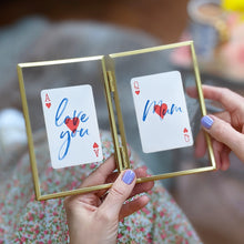 Load image into Gallery viewer, Love you Mum playing cards letterbox gift set