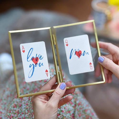 Love you Mum playing cards letterbox gift set