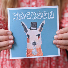 Load image into Gallery viewer, Personalised Mr Llama birthday card