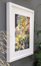 Load image into Gallery viewer, Love and Harmony gold foiled art print