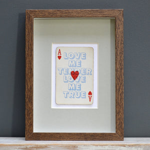 Love me tender playing card print