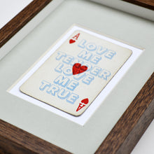 Load image into Gallery viewer, Love me tender playing card print