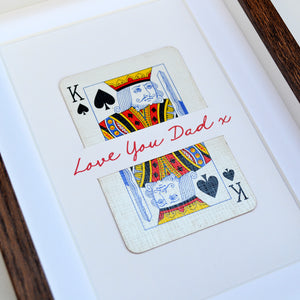 Dad is King playing card print