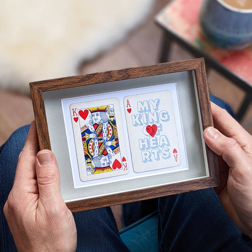 My king of hearts playing card print