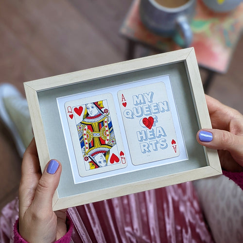 My queen of hearts playing card print