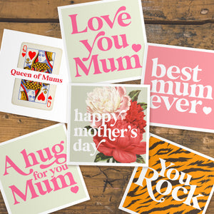 Mother's Day floral cards letterbox gift set