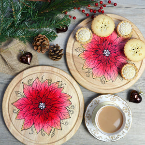 'Poinsettia' serving board