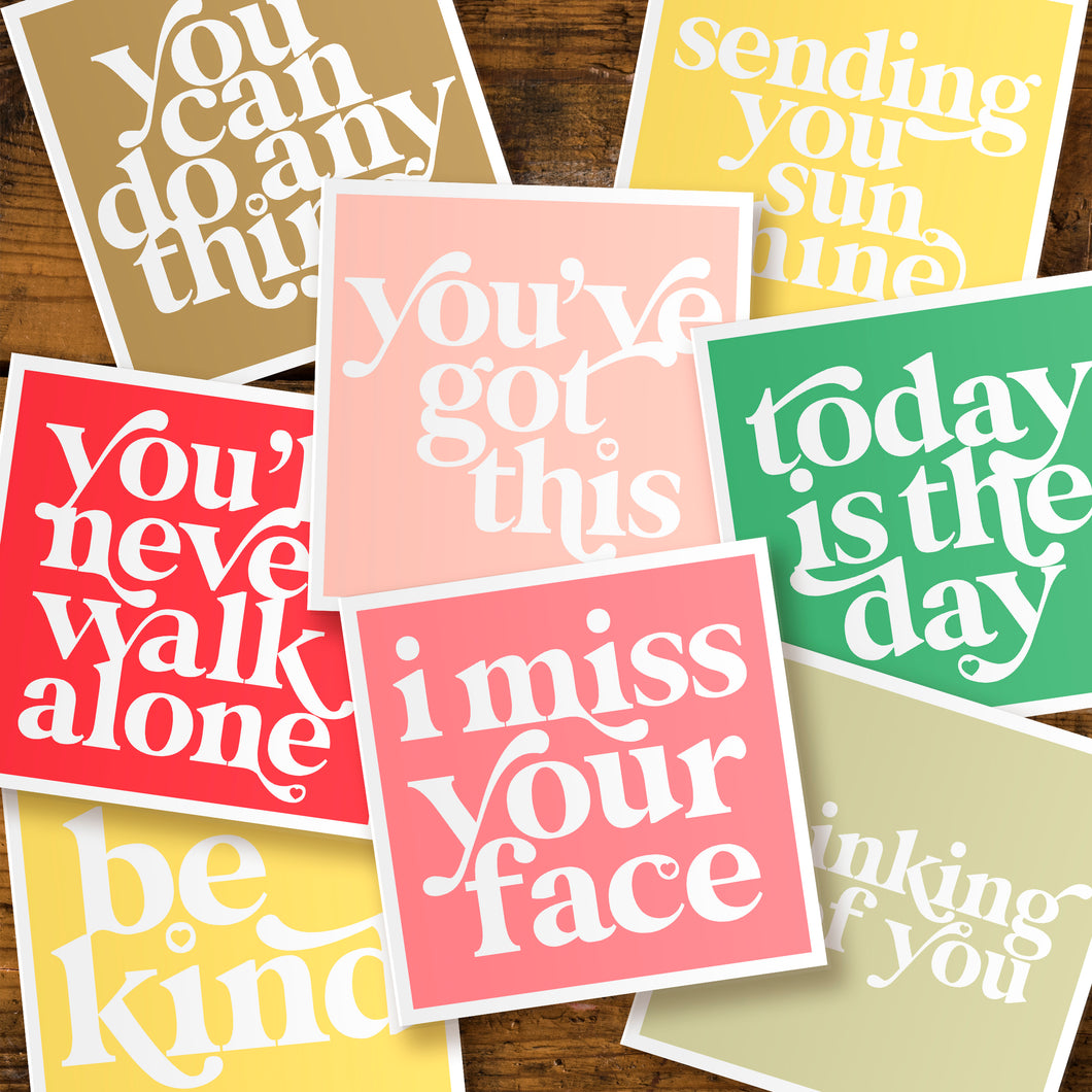 Positivity cards - pack of five