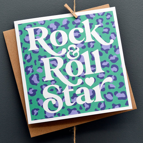 Rock & roll star card
