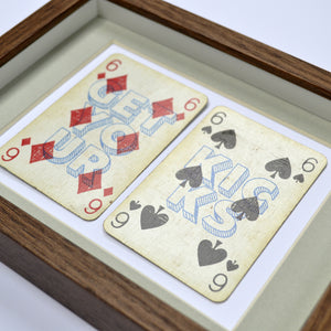 Route 66 playing card print