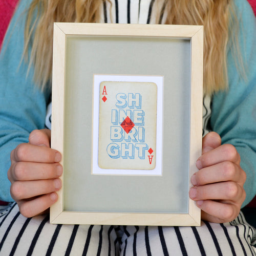 Shine bright playing card print