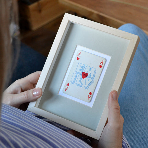 Ace of hearts playing card print