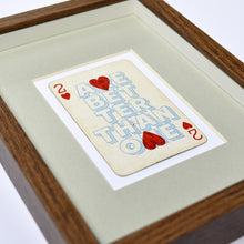 Load image into Gallery viewer, Two hearts are better than one playing card print