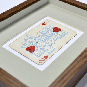 Two hearts are better than one playing card print