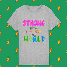 Load image into Gallery viewer, Strong girls kids t-shirt