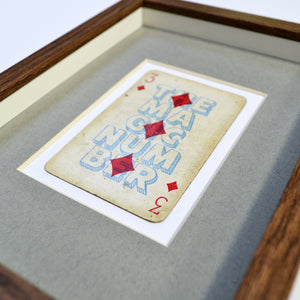 The magic number playing card print